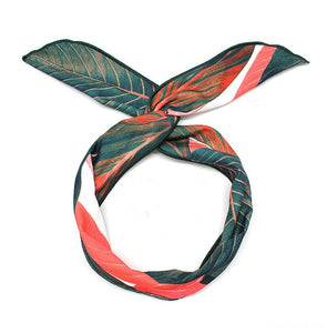 Peacock Summer Bohemian Style Hairbands Print Headbands For Women Retro Cross Knot Turban Bandage Bandanas Women Hair Accessories