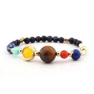 Universe Planets Beads, Bangles & Bracelets Fashion Jewelry Natural Solar System Energy Bracelet For Women or Men .