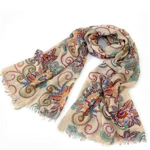 Peacock Vintage Warm Knitted Ladies Scarf luxury brand Wrap Shawls and scarves Nation Summer beach Ladies