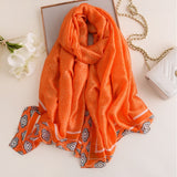 Peacock Brand Designer Silk Scarf High Quality Foulard Bandana Long Lrage Shawls Wrpas Winter Neck Scarves Pashmina Lady Hijab