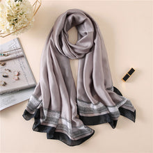 Load image into Gallery viewer, Peacock Brand Designer Silk Scarf High Quality Foulard Bandana Long Lrage Shawls Wrpas Winter Neck Scarves Pashmina Lady Hijab