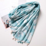 Peacock Fashion Women Color Blocking Geometry Pattern Scarf Tassel Travel Shawl Cover Up New Vintage