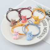 Peacock Cute animal hair ring Cat dog rabbit hair bands headwear girl rubber band elastic hair bands Korean children hair Accessories