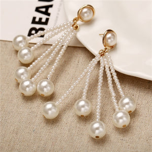 Peacock Oversize Pearl Hoop Earrings For Women and Girls. Unique Twisted Big Earrings, Circle Earring for Fashion Jewelry