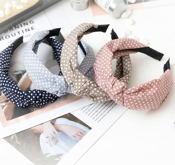Peacock Women Hair Accessories Cotton Plaid Hairband Knot British Style Striped Fabric Headband Girls Headwear Spring Hair Band.