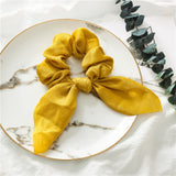 Peacock Fashion Floral Print Scrunchie Silk Elastic Hair Band For Women Hair Scarf Bows Rubber Ropes Girls Hair Ties