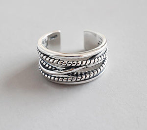 Peacock, Real Pure Silver Colo,r Jewelry, Vintage, Layered Large Rings for Women