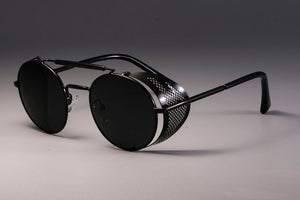 Peacock Round Metal Sunglasses Steampunk Men Women Brand Designer Glasses Shades UV Protection