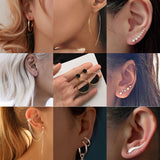 Peacock New Fashion Simple Geometric Stud Earrings Set for Women and Girls.