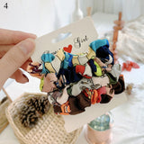 Peacock  Hair Ring Candy Color Hair Ties Rope Women Ponytail Hair Accessories  Girls