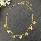Peacock Bohemian Cute Butterfly  For Women Gold Silver Color Fashion Female Chocker Jewelry