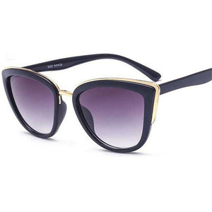 Peacock Cateye Sunglasses Women Vintage Metal Eyewear For Women Mirror Retro Shopping  UV400