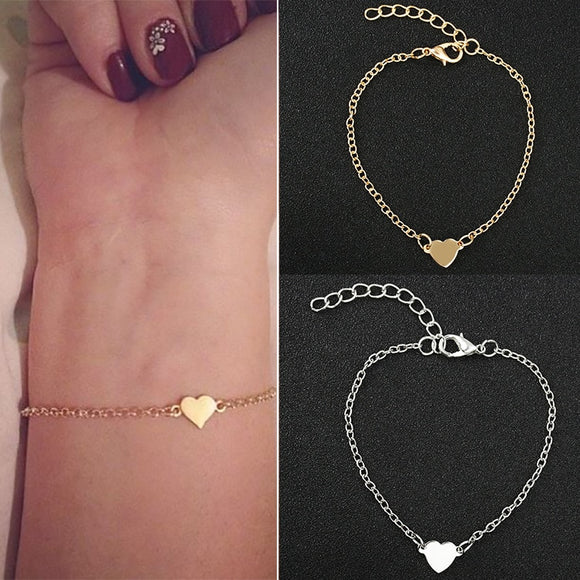 Minimalist Sexy Heart-shaped Love Heart Stainless Steel Bracelets & Bangles .