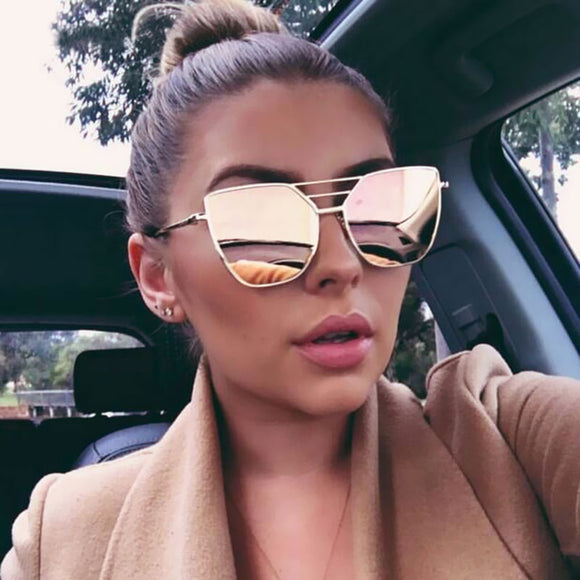 Peacock Metal Luxury Vintage Coated Mirror Sunglasses Women Brand Designer Fashion Classic Retro Trand Sun Glasses Uv400