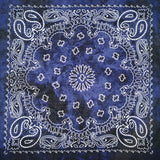 Peacock Hip Hop 100% Cotton Bandana Square Scarf 55cm*55cm Black Red Paisley Headband
