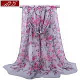 Peacock Chiffon scarf winter shawl schal scarves poncho women scarfs ethnic big flower hijab  scarfs