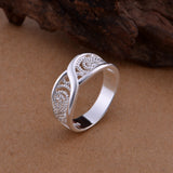Peacock Gorgeous Rounded Hollow  Shiny Ring  Fashion Jewelry Silver Plated Ring Jewelry