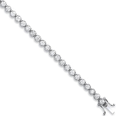 18ct White Gold 5.00ct Diamond Tennis Bracelet
