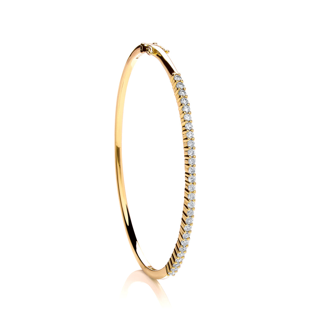 18ct Yellow Gold 1.10ctw Diamond Bangle