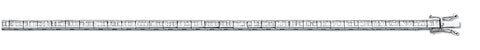 18ct White Gold 3.00ct Baguette Cut Diamond Bracelet