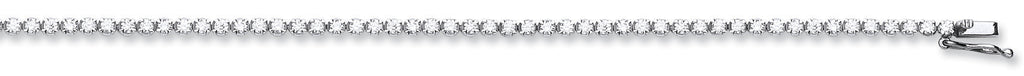 18ct White Gold 3.00ct Diamond Tennis Bracelet