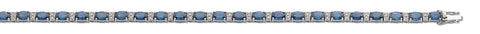 18ct White Gold 0.22ct Diamond & 7.5ct Blue Sapphire Bracelet