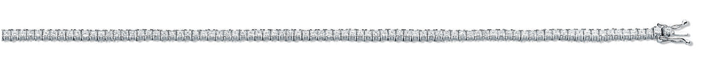18ct White Gold 3.00ct Princess Cut Diamond Bracelet