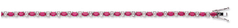 18ct White Gold Diamond & 6.00ct Ruby Bracelet