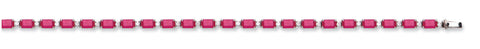 18ct White Gold 0.50ct Diamond & 8.00ct Ruby Bracelet