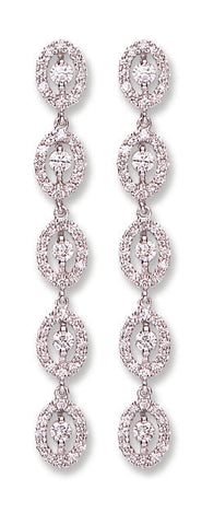 18ct White Gold 1.25ct Diamond Drop Earrings