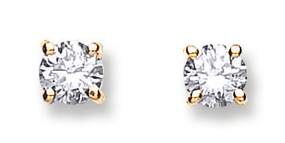 18ct Yellow Gold 0.60ctw Claw Set Diamond Stud Earrings