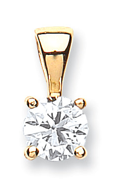 18ct Yellow Gold 0.70ct Claw Set Diamond Pendant