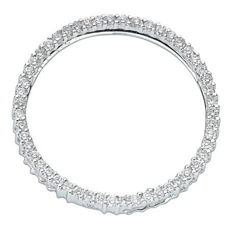 18ct White Gold 1.00ct Diamond Circle Pendant