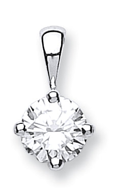 18ct White Gold 0.70ct Diamond Solitaire Pendant