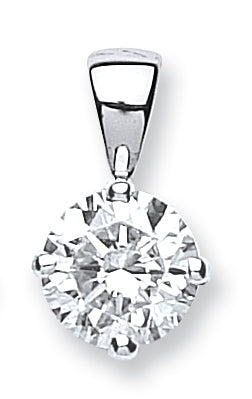 18ct White Gold 1.00ct Solitaire Pendant