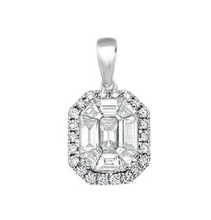 18ct White Gold 1.00ct Diamond Drop Pendant