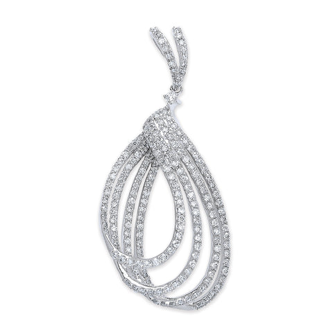 18ct White Gold 0.86ct H-SI Dia Fancy Drop Pendant