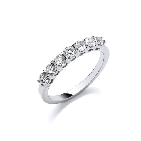 Platinum 0.70ct G/H-Vs Diamond Ring
