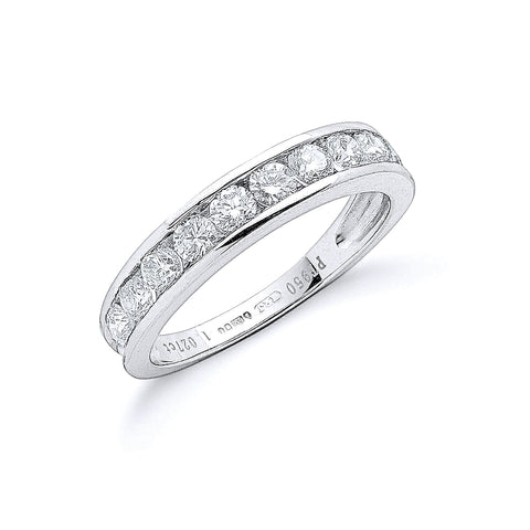 Platinum 1.00ct G/H-Vs Diamond Eternity Ring