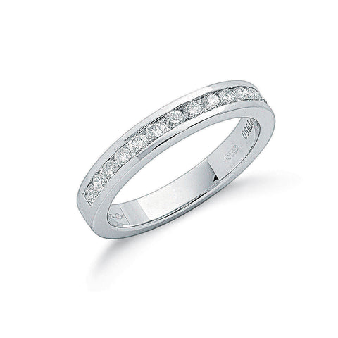 Platinum 0.50ct G/H-Vs Diamond Eternity Ring
