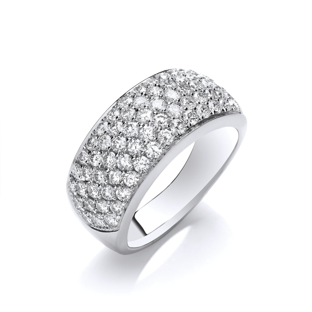 18ct White Gold D.1.60ctw Diamond Bombay Ring