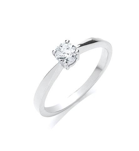 18ct White Gold 0.35ct Diamond Engagement Ring