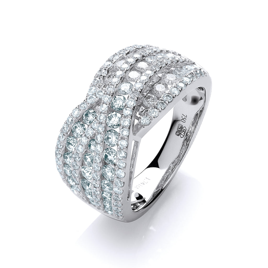 18ct White Gold D.1.75ctw Diamond Dress Ring