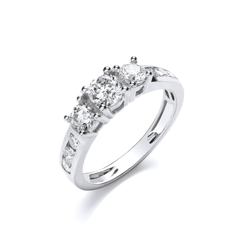18ct White 1.00ct Diamond Ring