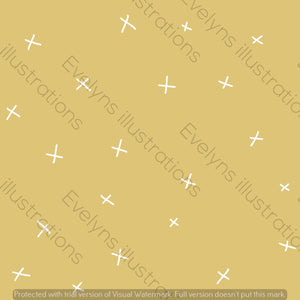 Digital Download - Non Exclusive | Medium Scale | Pale Yellow | Calm Crosses | 6 by 6 Inches