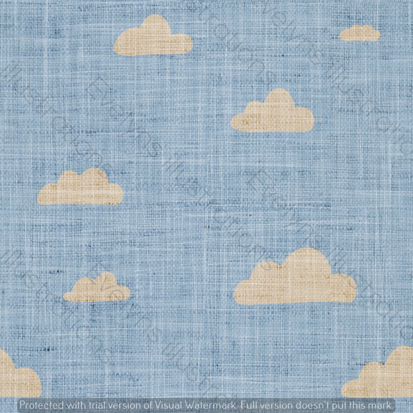 Digital Download - Non Exclusive | Medium Scale | Denim Light Blue | Retro Skies | 6 by 6 inches