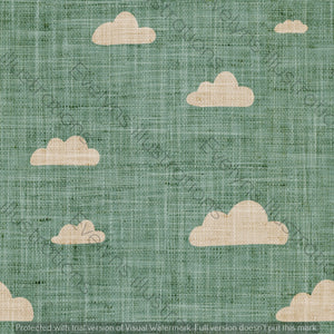 Digital Download - Non Exclusive | Medium Scale | Olive | Retro Skies | 6 by 6 inches