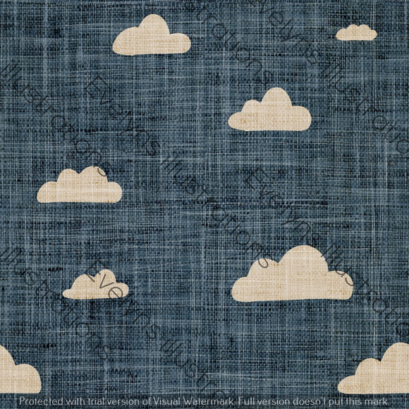 Digital Download - Non Exclusive | Medium Scale | Denim Blue | Retro Skies | 6 by 6 inches