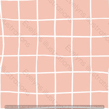 Load image into Gallery viewer, Digital Download - Non Exclusive | Medium Scale | Rose Pink | Square Grid | 6 by 6 inches | Oh Baby Blue Collection