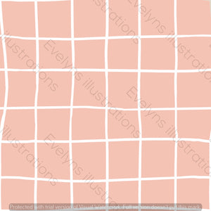 Digital Download - Non Exclusive | Medium Scale | Rose Pink | Square Grid | 6 by 6 inches | Oh Baby Blue Collection